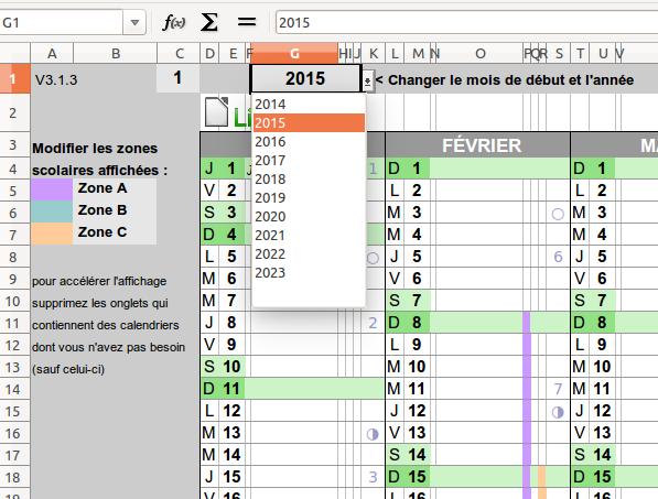 Calendrier Scolaire 2019 2020 Excel.Un Calendrier Perpetuel Pour Openoffice Libreoffice Et