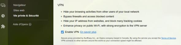 VPNOpera1 - Opéra intégrera le VPN SurfEasy